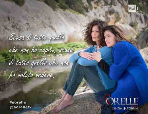 Sorelle TV miniseries: Elena and Chiara in Materahi