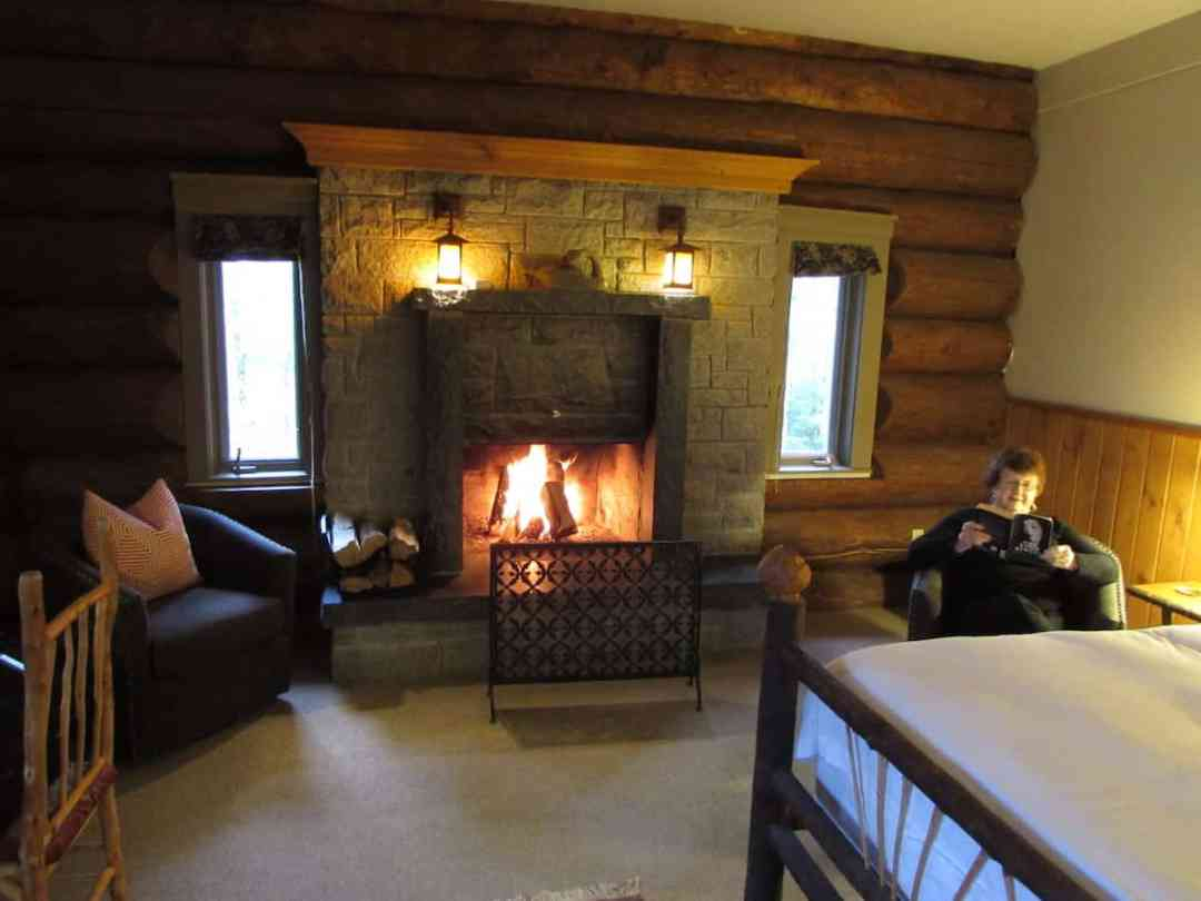 Our comfortable suite at Trout Point Lodge