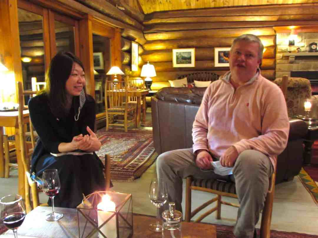 Trout Point Lodge Owners Pamela and Patrick Wallace