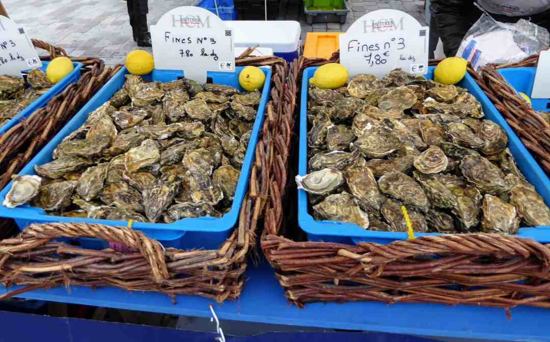 Arcachon oysters at the Marche des Quai