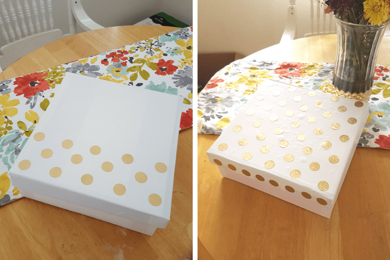 Easy DIY for Spring Storage Solution Upcycle Shoe Box