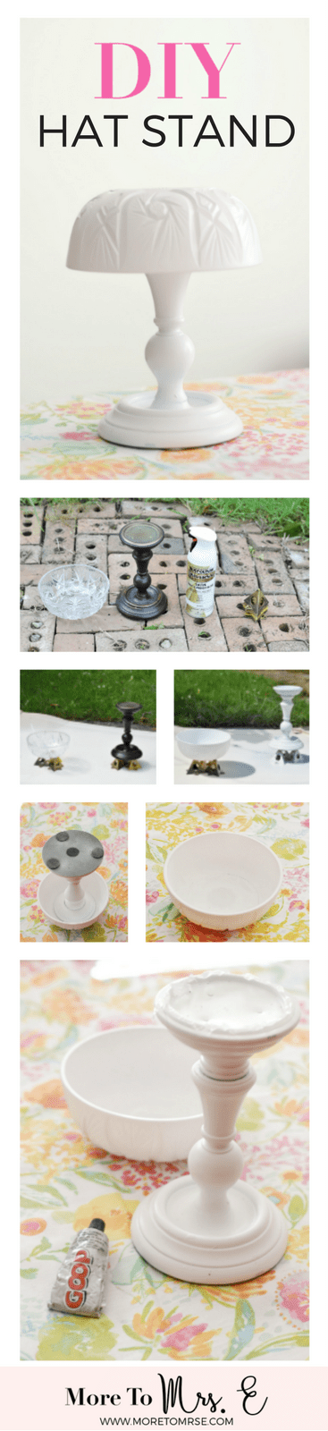 Make DIY Hat Stand_Reuse Candlestick_Spray Paint Project