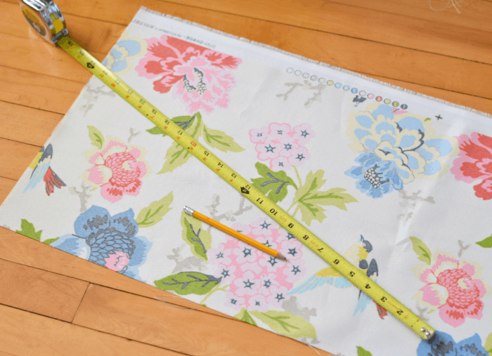 Measure Out Fabric DIY No Sew Envelope Pillow