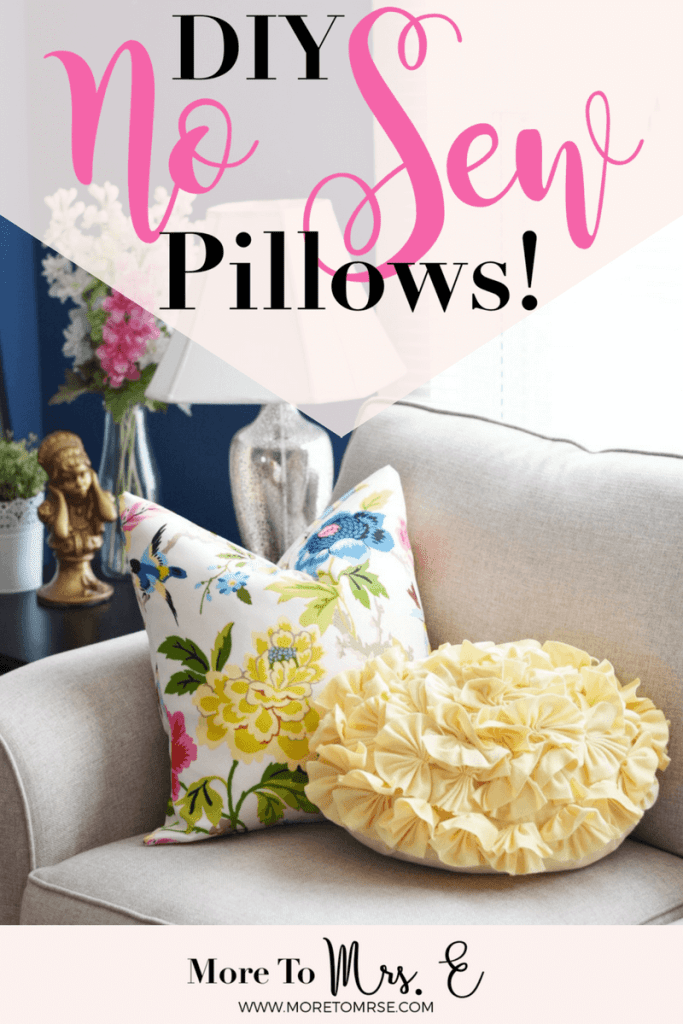 Easy No Sew DIY Envelope Pillow