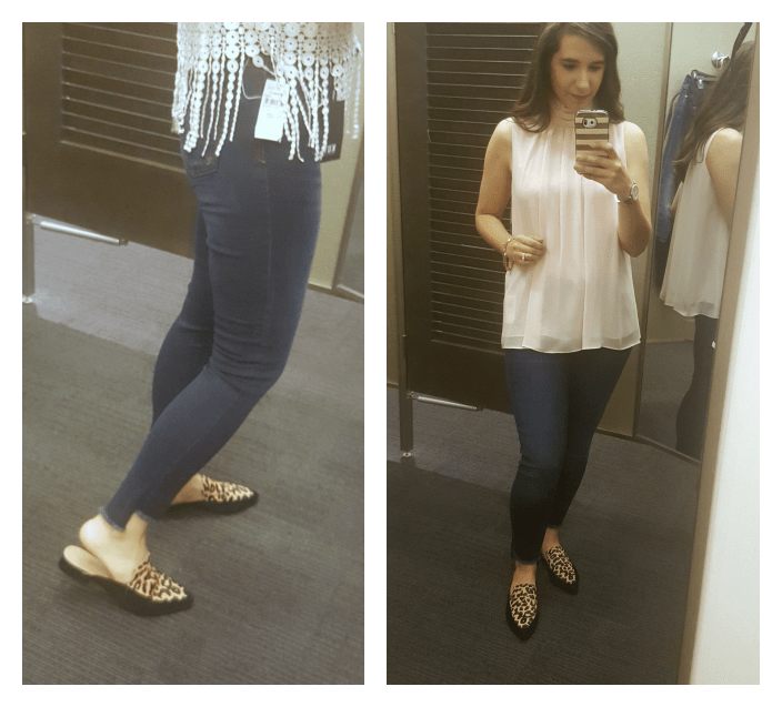 Nordstrom Anniversary Sale Dressing Room Diaries_best jeans_KUT_sale jeans_vince Camuto top