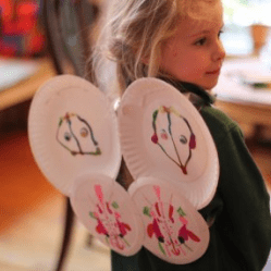 Paper Plate Fairy Wings