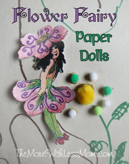 Flower Fairy Paper Dolls