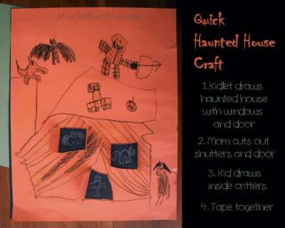 Quick haunted house craft
