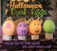Halloween Dyed Eggs