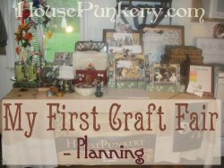 My First Craft Fair – Planning