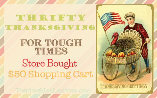 Thrifty Thanksgiving for Tough Times – Store Bought $50 Shopping Cart