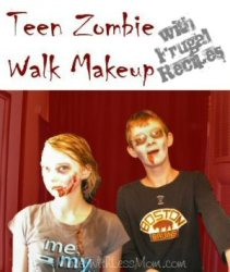 Teen Zombie Walk Makeup with Frugal Recipes