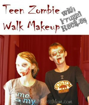 Teen Zombie Walk Makeup