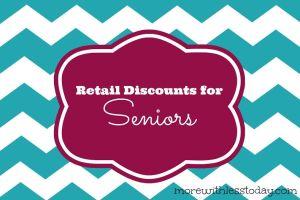 retail stores with senior discounts, Kohl's senior discount, Dress Barn senior discount, Banana Republic senior discount, Stein Mart senior discount,