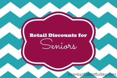 Retail Discounts for Seniors & Boomers 2017 Updated List from Kohl's senior discount, Dress Barn senior discount, Stein Mart senior discount & more.