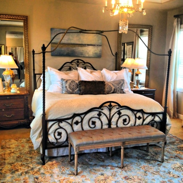 Decorating on a dime a peaceful bedroom more with less for Design on a dime bedroom ideas