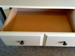 sauder drawer opened