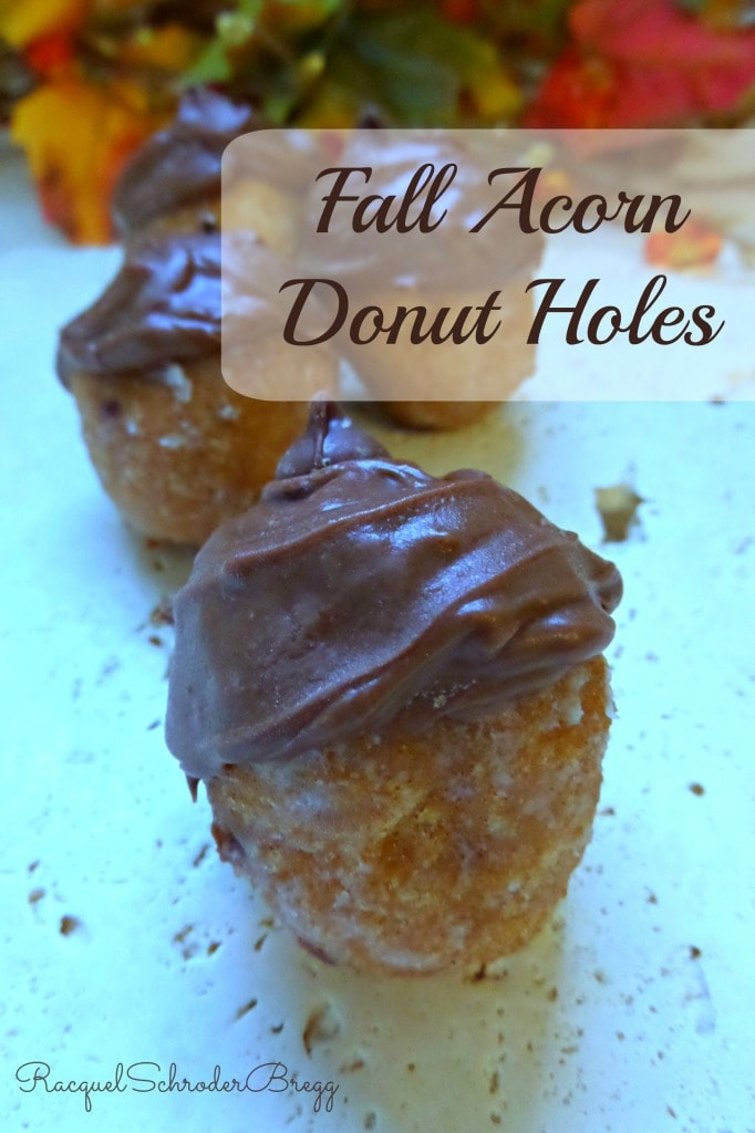 Decorate store-bought donut holes to look like acorns. These easy fall treats will be a hit at a fall celebration. They look adorable.