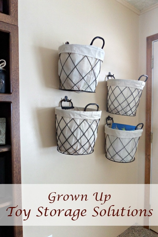 Grown Up Toy Storage Solutions - More With Less Today - Storage Solutions for Toys - Stylish Storage Ideas for Toys - ideas to store toys- toys +organized
