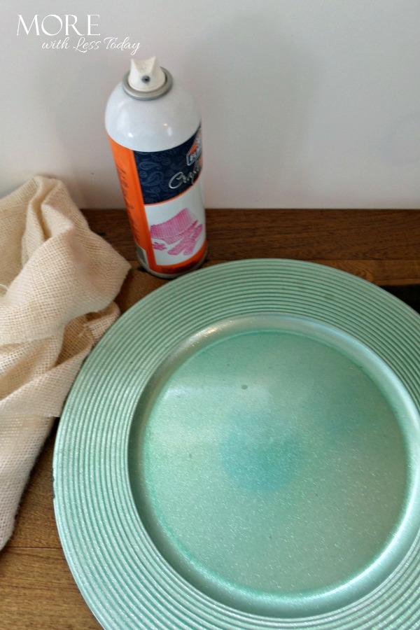 DIY Burlap Charger Plate