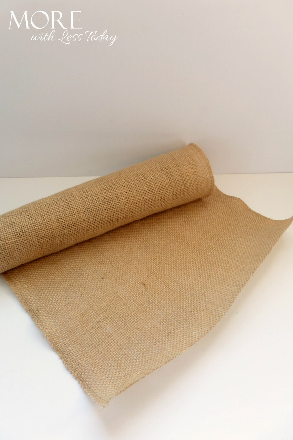 Burlap Placemat for Spring