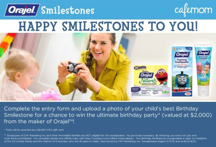 happy smilestones contest