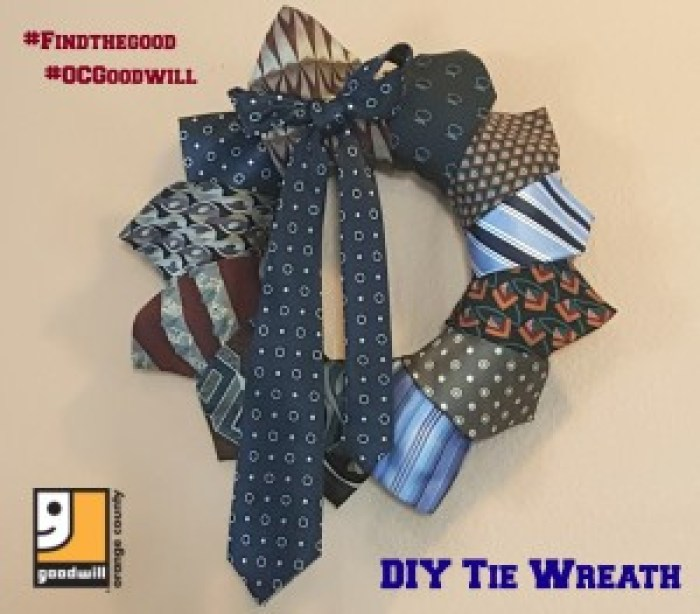Do you have old ties that are no longer being worn? See how we put together this fun Father's Day DIY wreath out of old ties.
