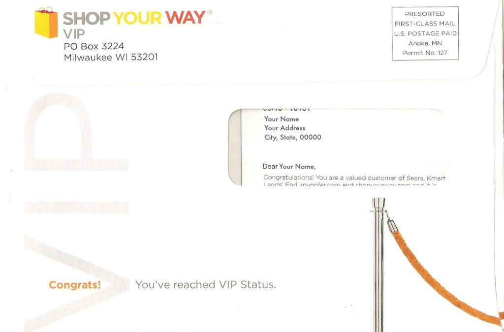 Shop Your Way VIP benefits