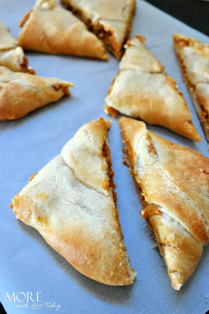 Pumpkin Cream Cheese Turnovers with Pillsbury Crescent Rolls