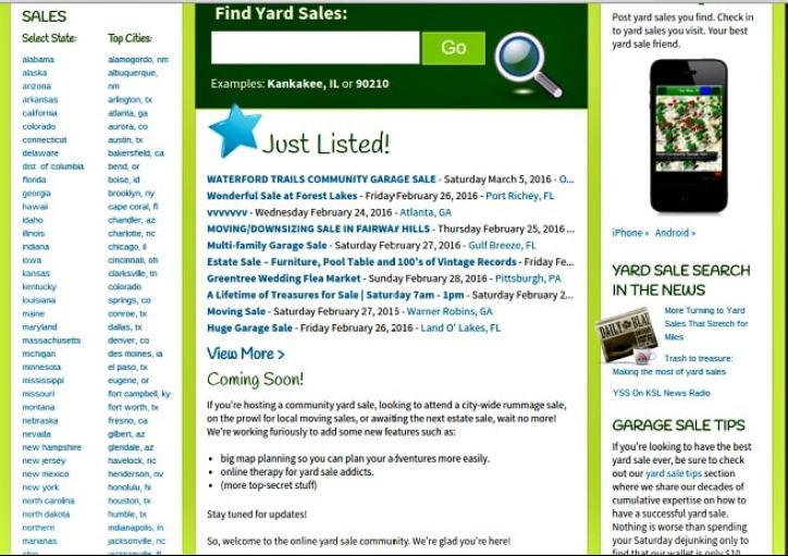 find a yard sale near me