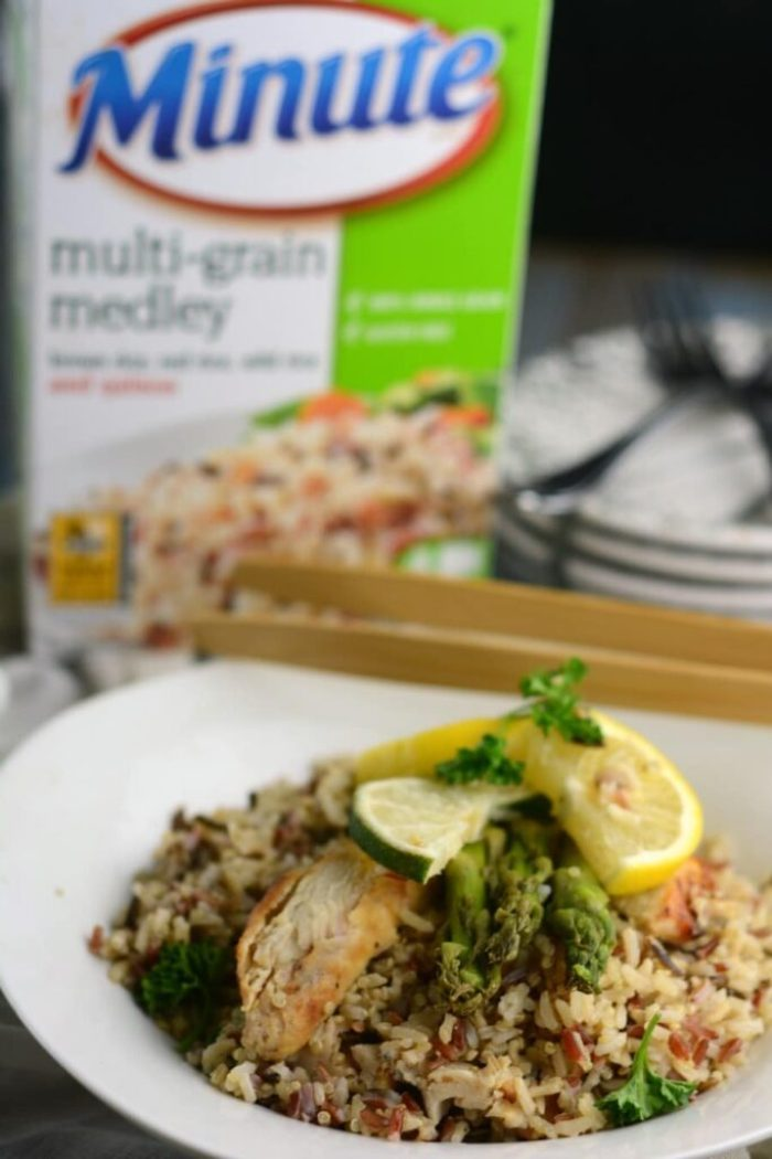 Minute Rice Medley Recipe for Lemon Chicken and Asparagus