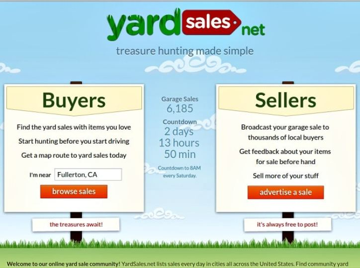 Where to list your garage sale online