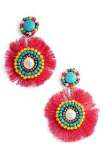 bold and colorful statement earrings