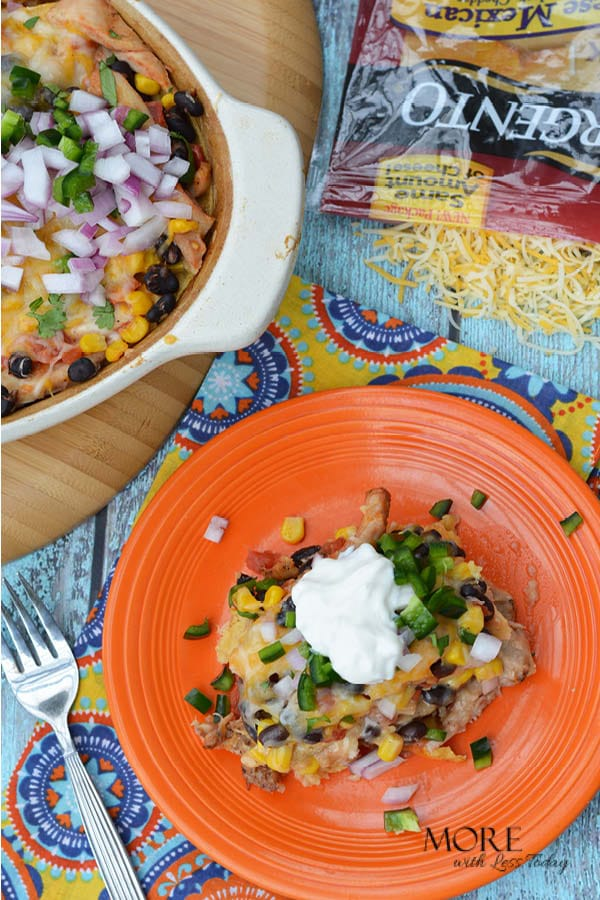 easy recipe idea using shredded Mexican cheese