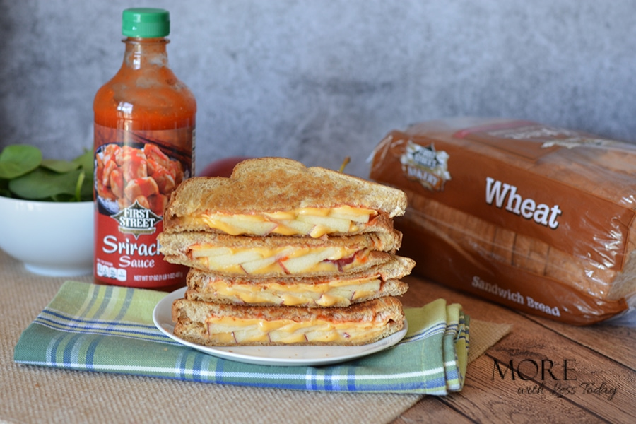 Sriracha Sauce and Apple Spicy Grilled Cheese Sandwich Recipe