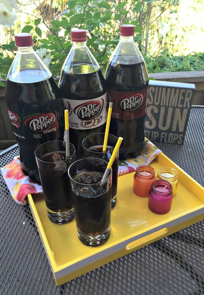 dr pepper fun outside