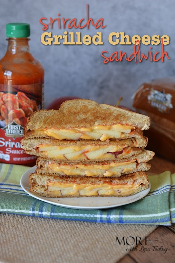 Do you love a good grilled cheese sandwich? Try our spicy twist on a classic with apples and Sriracha sauce. It will surprise you!