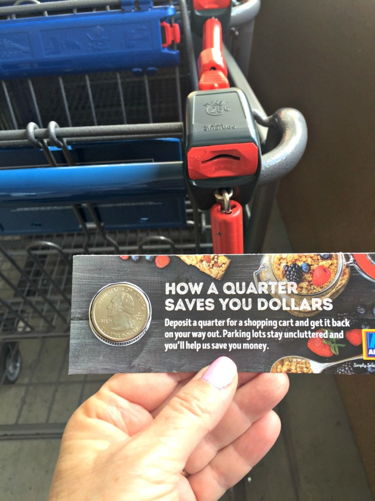 ALDI shopping carts save money