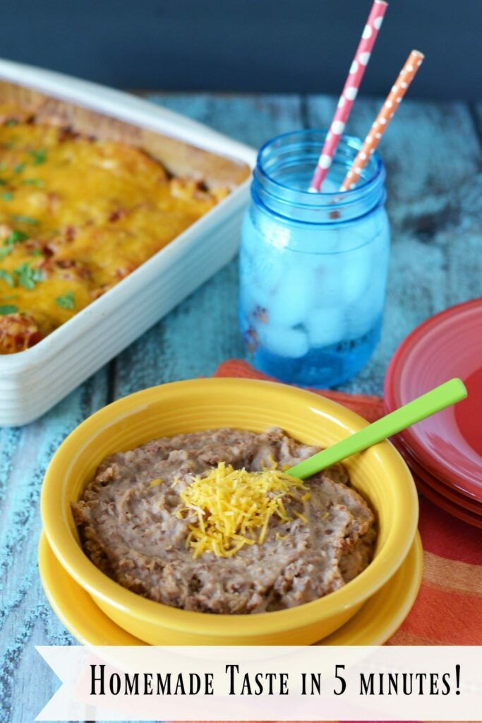 New Instant Refried Beans: Homemade Taste and Texture in 5 Minutes, try new Herdez instant refried beans to get good food on the table fast.