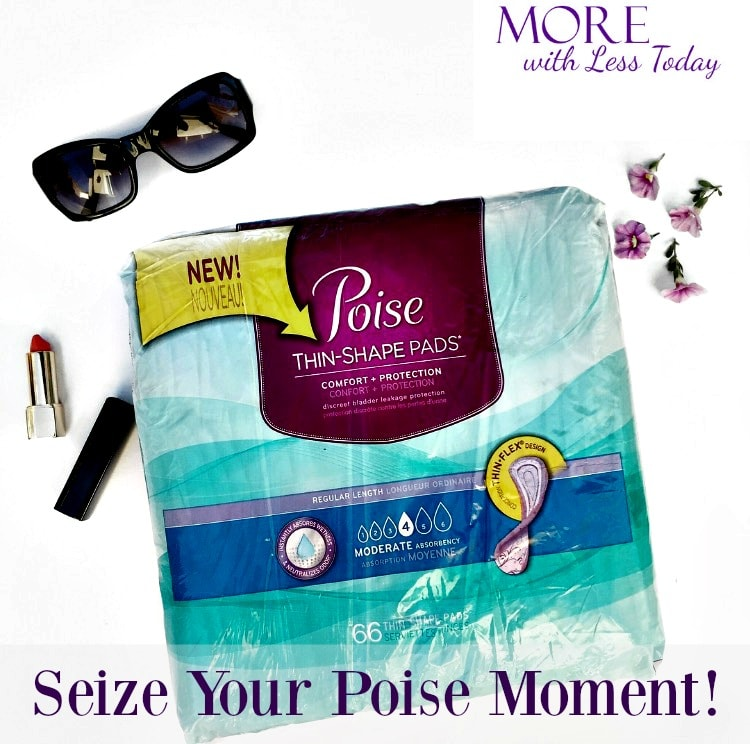 Don't let LBL ruin your time to shine! Seize Your Poise Moment the new Poise Thin-Shape Light Absorbency pads, specifically made for our bodies. AD
