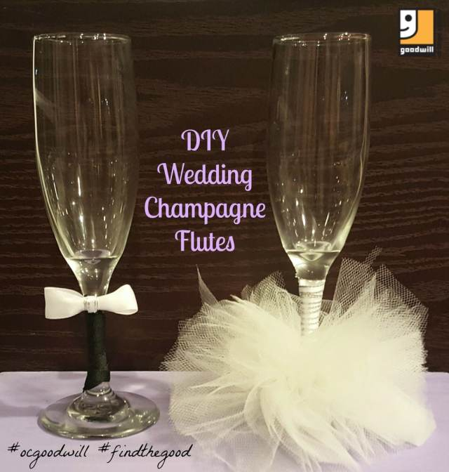 DIY toasting glasses for a wedding