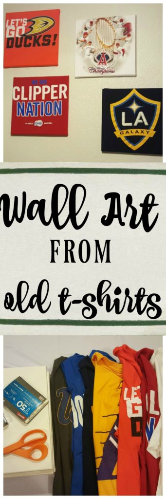 How to make wall art from old t-shirts