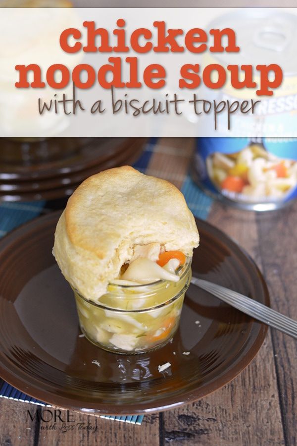 Are you looking for a hearty soup recipe with a twist? Try our Progresso Rich and Hearty Chicken and Homestyle Noodle Soup With a Biscuit Topper.