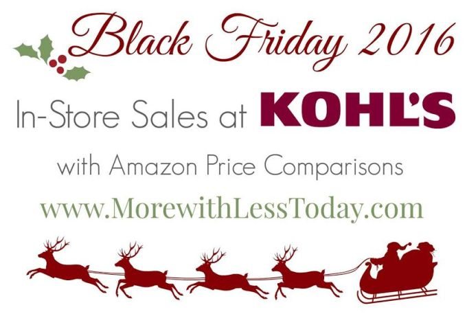 Wondering if popular items will be cheaper at Kohl's or online at Amazon.com for Black Friday? This helpful list will help you to make an informed decision.