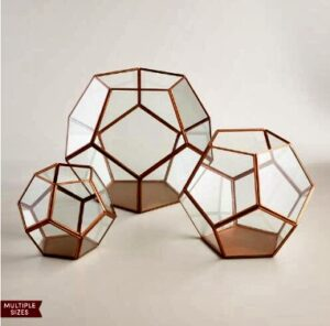 3 Copper Terrariums From World Market