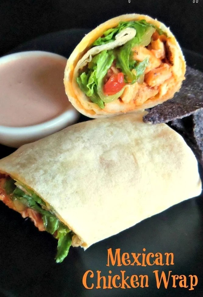 Mexican Chicken Wraps is an easy and fast delicious meal. The Mexican Chicken Wraps also make great leftovers to take for lunch.