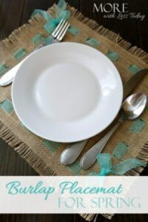 How to make a burlap placemat