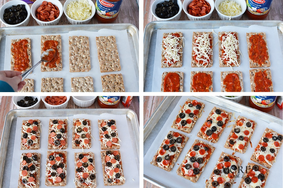 how to make an appetizer with WASA Crispbread