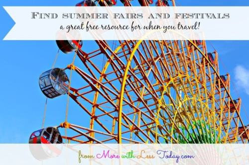 Find Summer Fairs and Festivals – Resource for Staycations and Car Trips