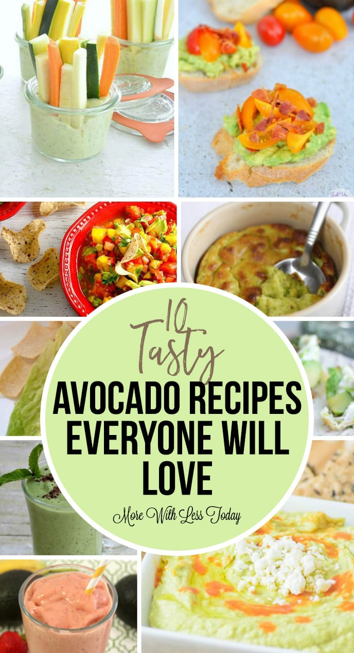 Do you love avocados as much as we do? The healthy fat is good for us so we found 10 tasty avocado recipes everyone will love!